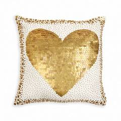 TALITHA WHITE HEART PILLOW